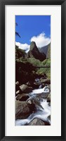Framed Stream flowing through a valley, Iao Needle, Iao Valley, Wailuku, Maui, Hawaii, USA