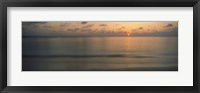 Framed Sunset View from Asdu Resort, Maldives