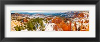 Framed High angle view of rock formations, Boat Mesa, Bryce Canyon National Park, Utah, USA