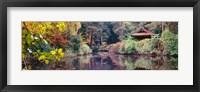 Framed Japanese Garden in autumn, Tatton Park, Cheshire, England