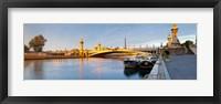 Framed Bridge across the river, Pont Alexandre III, Seine River, Paris, Ile-De-France, France