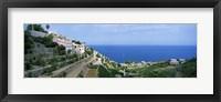 Framed Small coastal village, Deia, Majorca, Balearic Islands, Spain