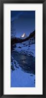 Framed Mt Matterhorn from Zermatt, Valais Canton, Switzerland