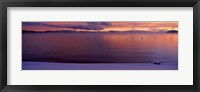 Framed Lake at sunset, Lake Tahoe, California