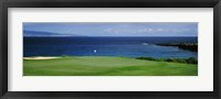 Framed Kapalua Golf Course, Maui, Hawaii