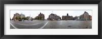 Framed Royal Palace and the Nieuwe Kerk, Dam Square, Amsterdam, Netherlands