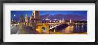 Framed Pont Alexandre III bridge at dusk, Seine River, Paris, Ile-de-France, France