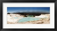 Framed Travetine Pool and Hot Springs, Pamukkale, Denizli Province, Turkey