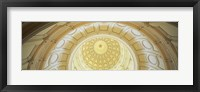 Framed Ceiling of the dome of the Texas State Capitol building, Austin, Texas