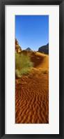 Framed Sand dunes in a desert, Jordan (vertical)