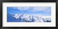 Framed Snow covered Alps, Schonjoch, Tirol, Austria