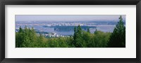 Framed Vancouver viewed from from a far, British Columbia, Canada