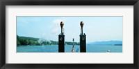 Framed View from the Minne Ha Ha Steamboat, Lake George, New York State, USA