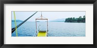 Framed Lake George viewed from a steamboat, New York State, USA