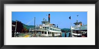 Framed Minne Ha Ha Steamboat at dock, Lake George, New York State, USA