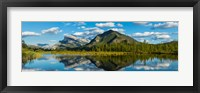 Framed Mount Rundle and Sulphur Mountain, Banff National Park, Alberta, Canada