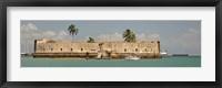 Framed Historical fortification in Baia De Todos Os Santos, Salvador, Bahia, Brazil