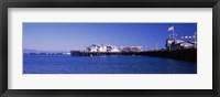 Framed Harbor and Stearns Wharf, Santa Barbara, California