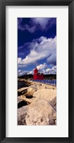 Framed Lighthouse at the coast, Big Red Lighthouse, Holland, Michigan, USA