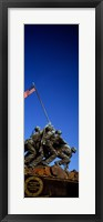 Framed Iwo Jima Memorial at Arlington National Cemetery, Arlington, Virginia, USA