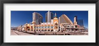 Framed Trump's Taj Mahal Casino along the Boardwalk, Atlantic City, New Jersey, USA