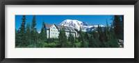 Framed Lodge on a hill, Paradise Lodge, Mt Rainier National Park, Washington State, USA