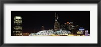 Framed Skylines and Shelby Street Bridge at night, Nashville, Tennessee