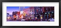 Framed Street scene at dusk, Nashville, Tennessee, USA