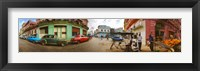 Framed 360 degree view of street scene, Havana, Cuba