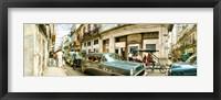 Framed Old cars on a street, Havana, Cuba