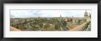 Framed Aerial View of Government buildings in Havana, Cuba