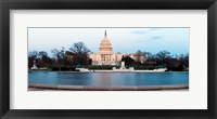 Framed Government building at dusk, Capitol Building, National Mall, Washington DC