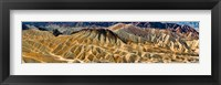 Framed Zabriskie Point, Death Valley, Death Valley National Park, California