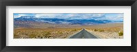 Framed Road passing through a desert, Death Valley, Death Valley National Park, California, USA