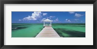 Framed Pier in the sea, Bahamas