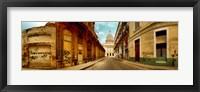 Framed Buildings along street, El Capitolio, Havana, Cuba