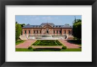 Framed Facade of a palace, Palauet Albeniz, Montjuic, Barcelona, Catalonia, Spain