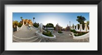 Framed Park Guell, Barcelona, Catalonia, Spain