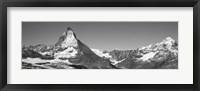 Framed Matterhorn Switzerland in Black and White