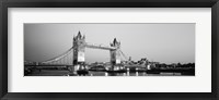 Framed Tower Bridge London England (Black and White)
