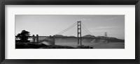 Framed Golden Gate Bridge in Black and White