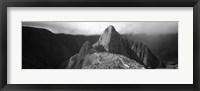 Framed Ruins, Machu Picchu, Peru (black and white)