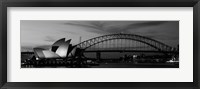 Framed Australia, Sydney (black and white)