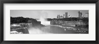 Framed Waterfall with city skyline in the background, Niagara Falls, Ontario, Canada