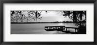 Framed Lake Whippoorwill, Sunrise, Florida (black & white)