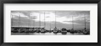 Framed USA, Wisconsin, Door County, Egg Harbor, sunset