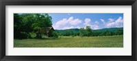 Framed Barn in a field, Cades Cove, Great Smoky Mountains National Park, Tennessee, USA