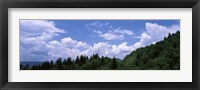 Framed Clouds over mountains, Cherokee, Blue Ridge Parkway, North Carolina, USA
