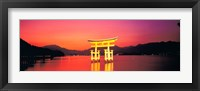 Framed Itsukushima Shrine Otorii Hiroshima Japan