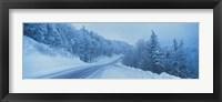 Framed Winter road NH USA